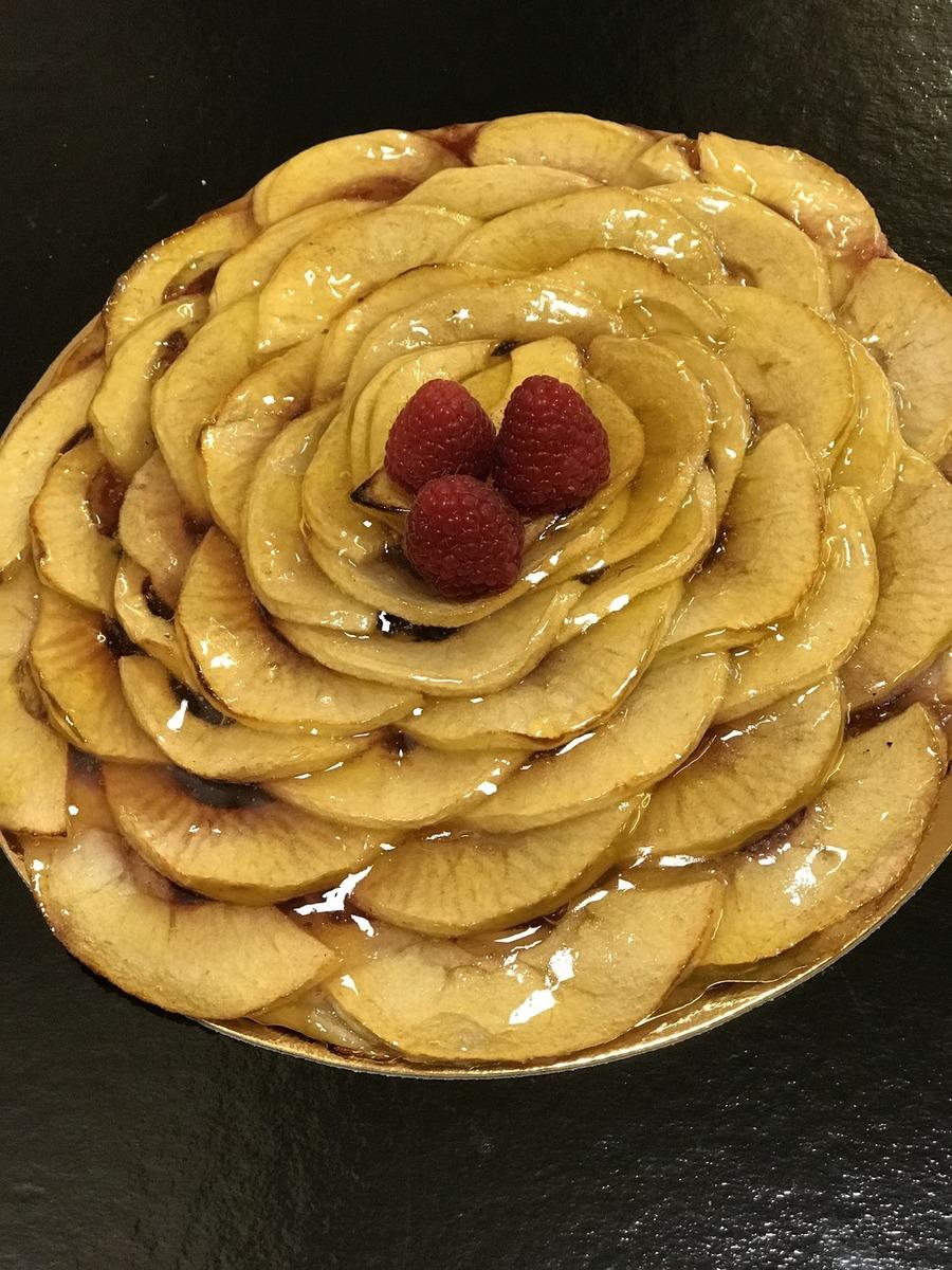 Tarte fine pommes framboises - Bakeronline