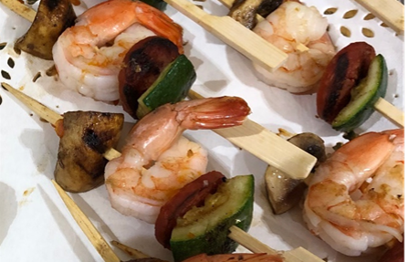 Chorizo and prawns skewers - Bakeronline