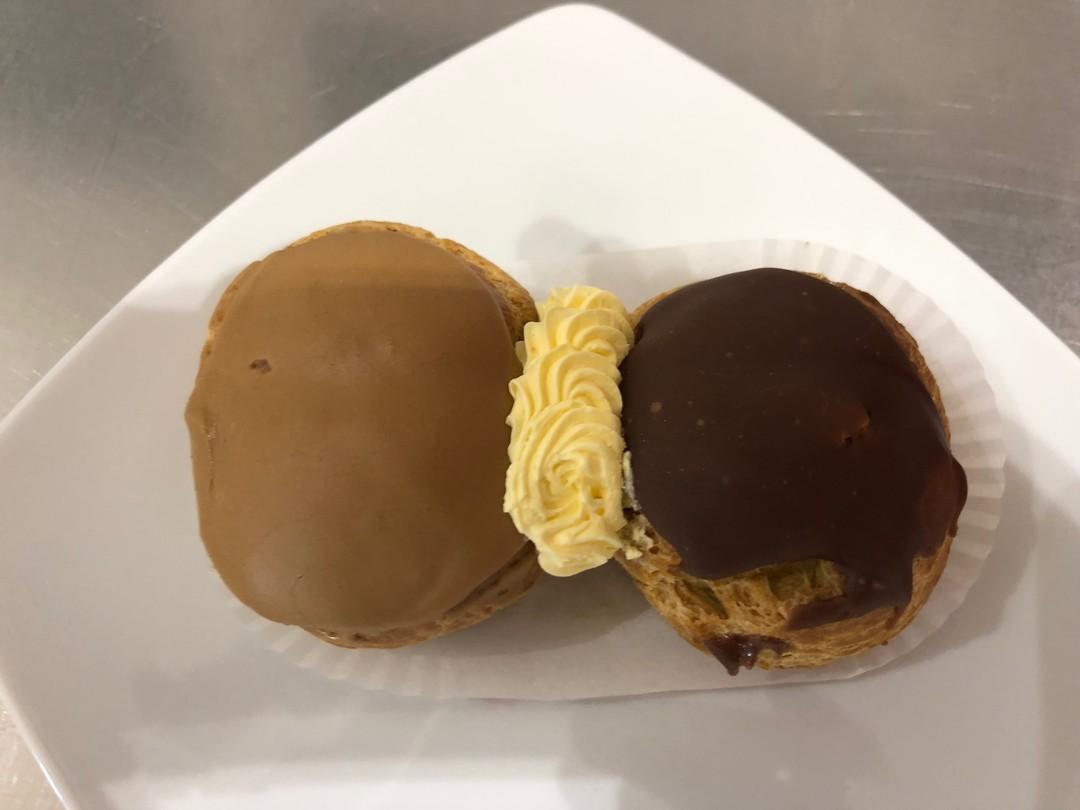 Divorced - chocolate cream and coffee cream choux pastry - Bakeronline